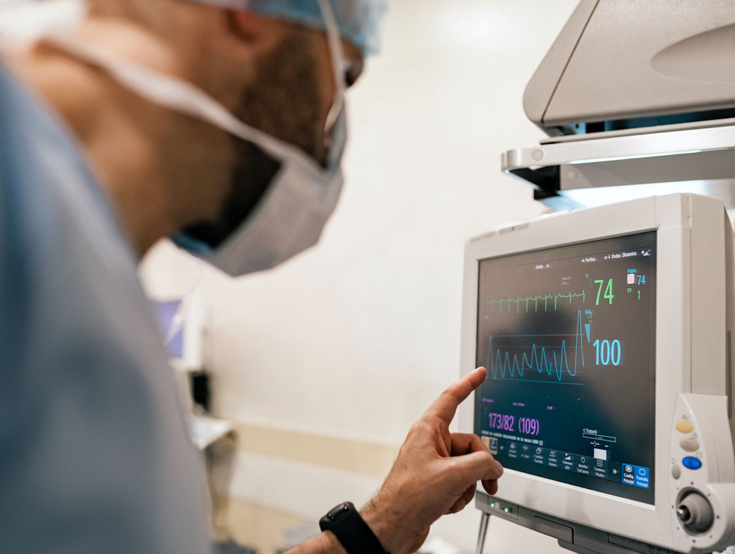 Physician Using a Touch Screen